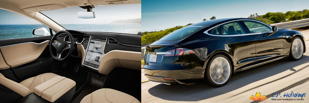 Tesla Model S Limousines from Airport