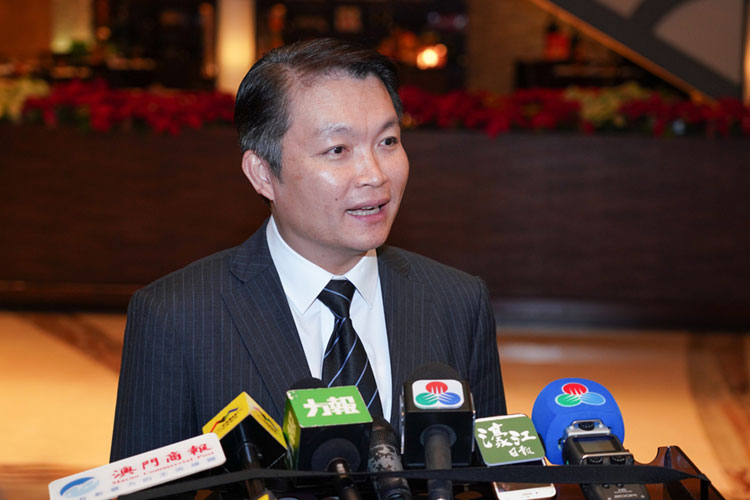 Macau's new Secretary for Economy and Finance, Lei Wai Nong